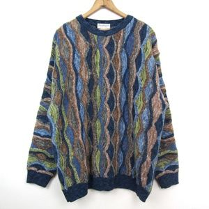 Norm Thomson vintage 90s coogi style sweater